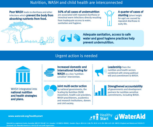 Chart – Nutrition, WASH and child health are interconnected