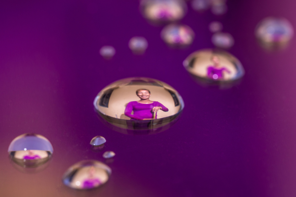 Woman in Water Droplet