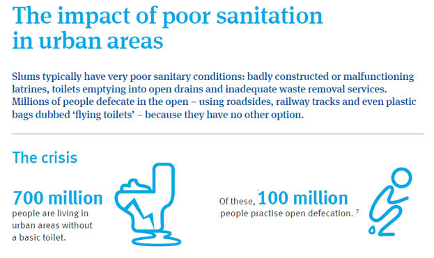 The impact of poor sanitation in urban areas