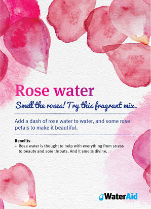 Rose water recipe