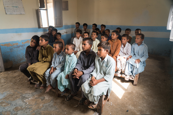 Children in school in Pakistan
