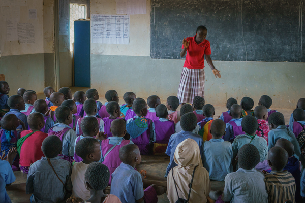 Children in school in Malawi