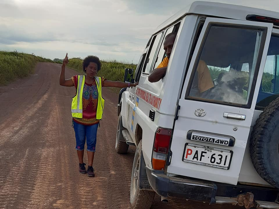 A 4wd drives to reach rural communities in PNG