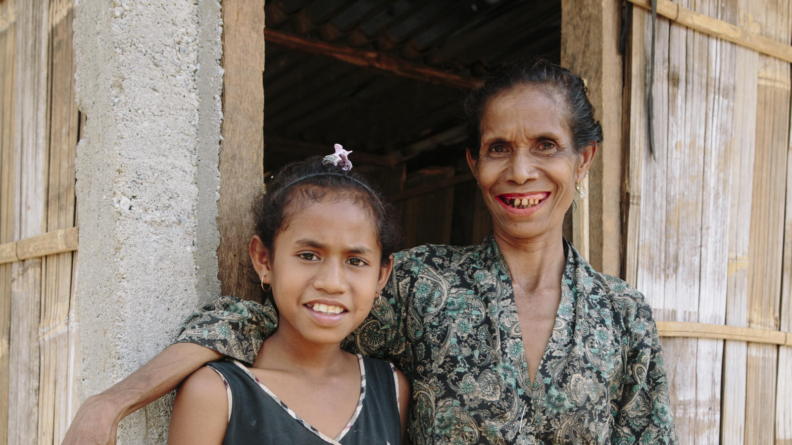 Twelve year old Efijenia and her mother Evalina