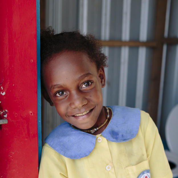 PNG girl in a toilet block