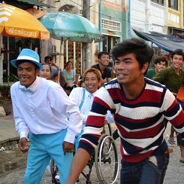 Cambodian dancers in the music video