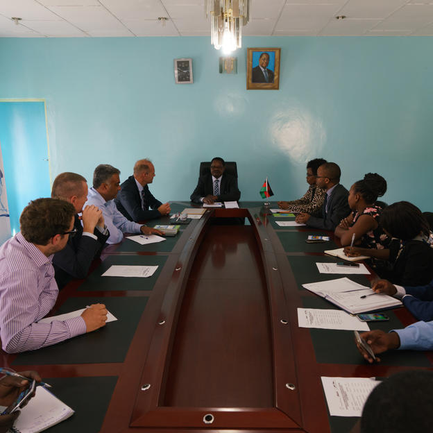 Frame of Corporation signing at Central Region Water Board, Lilongwe, Malawi, September 2017