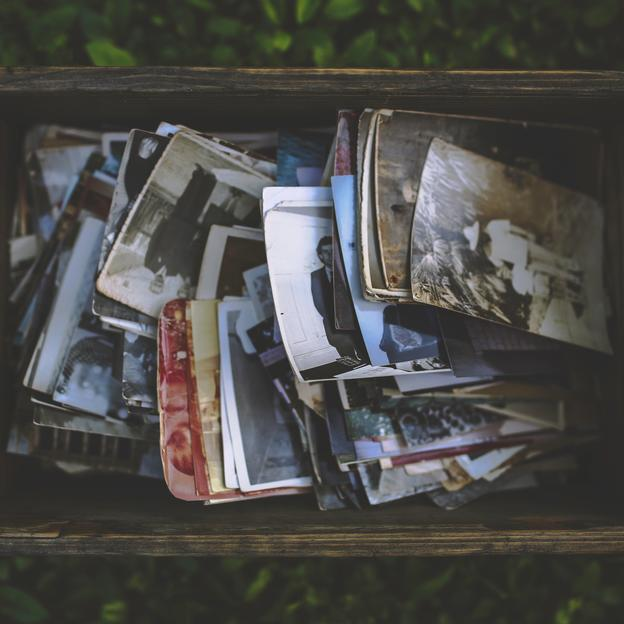 Box of old photos