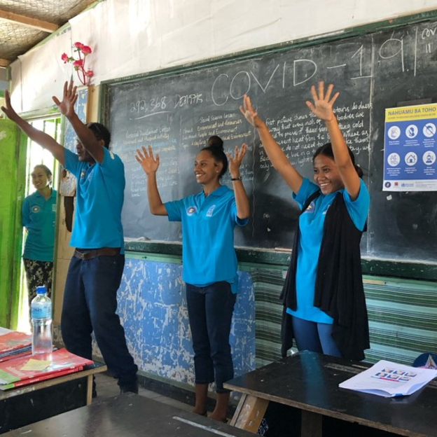 Handwashing education in PNG