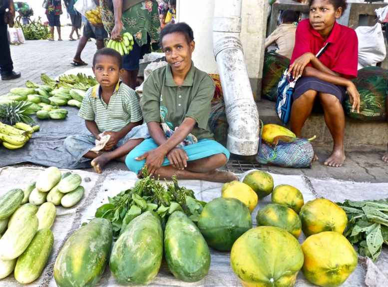 Woman selling her fruit at the Wewak Town Market