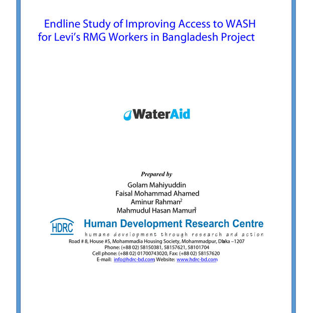 Endline Study of Improving Access to WASH for Levi's RMG Workers