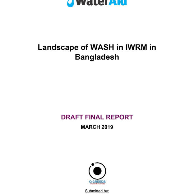 Landscape of WASH in IWRM in Bangladesh