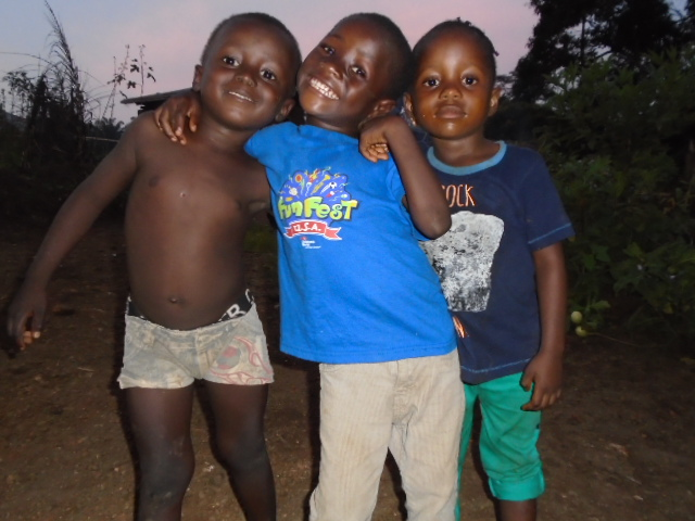 Haja took this photo of her son Ibrahim, 4, and his friends