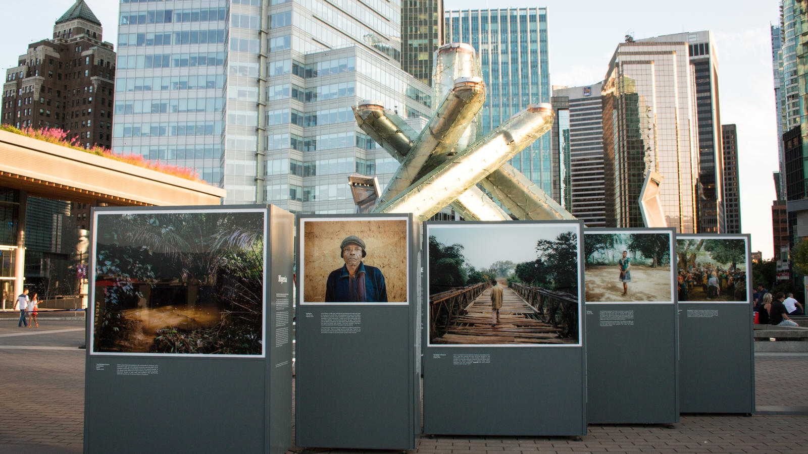 The Water Stories exhibit in Vancouver, BC put on in partnership with HSBC, WWF and Earthwatch.