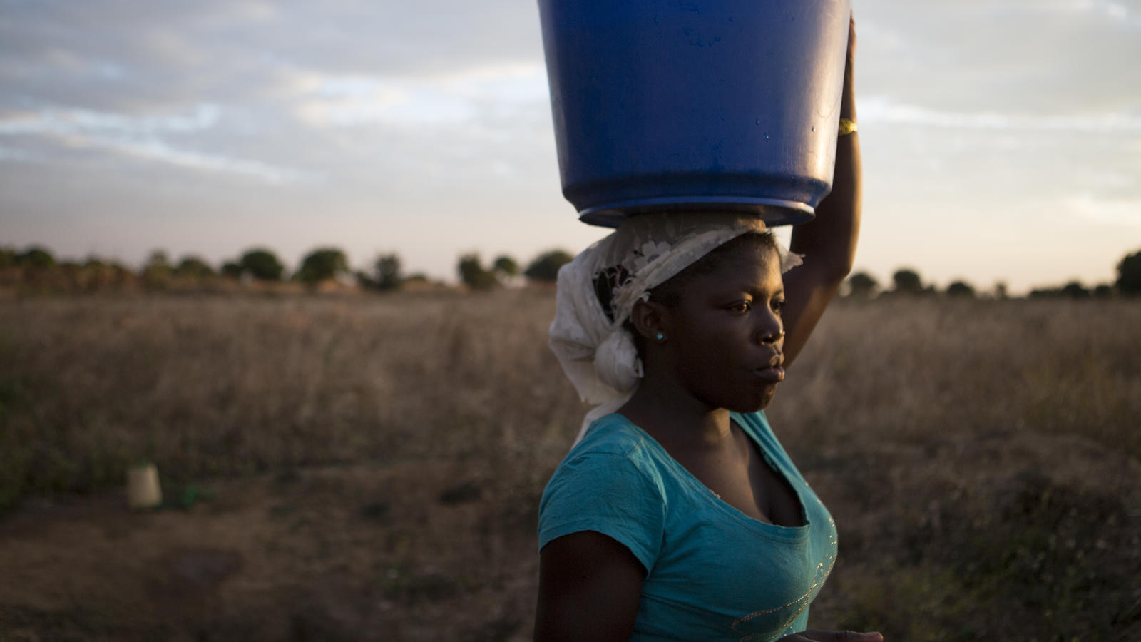 Ruth collects water in Malawi.