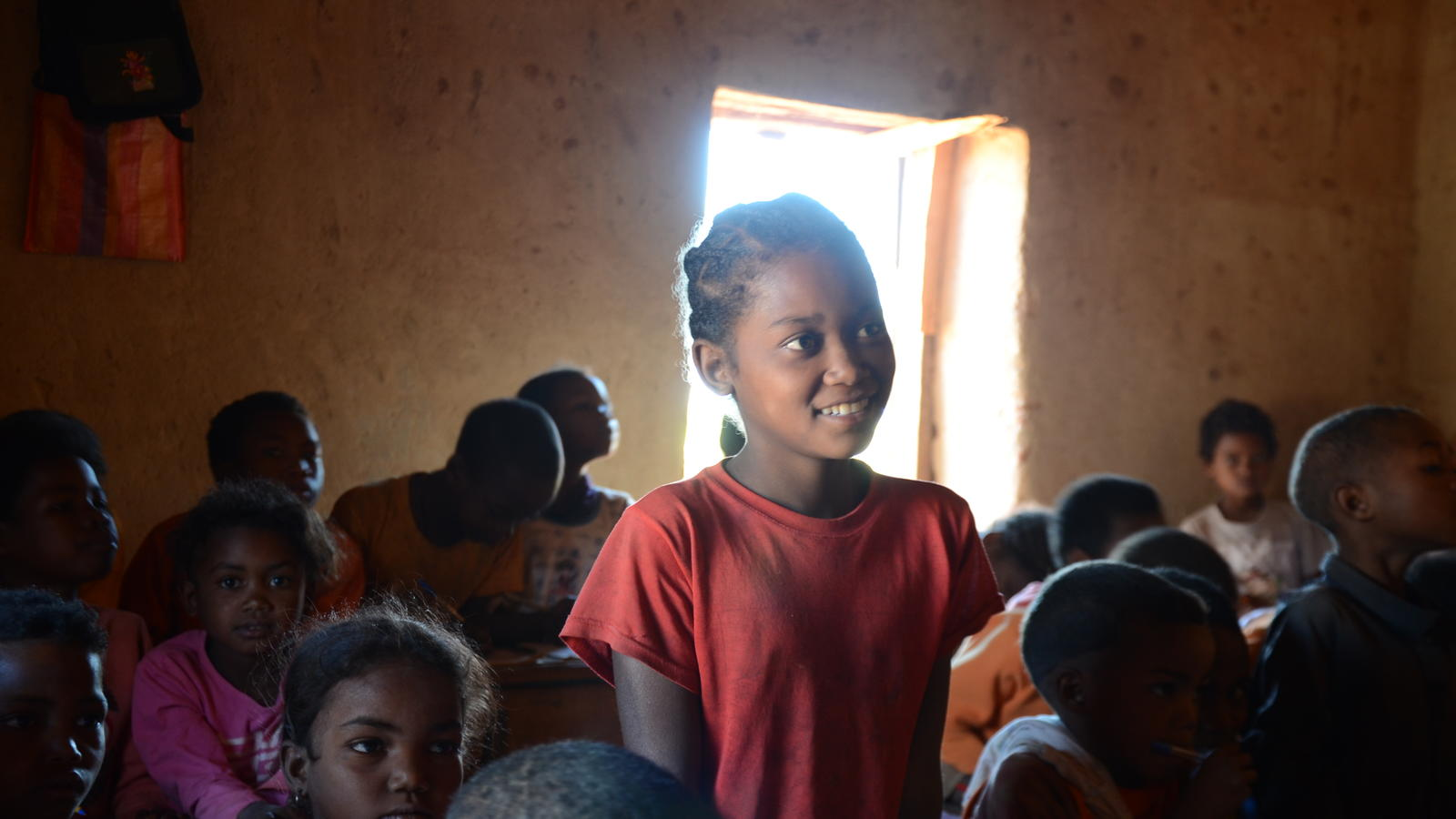 Portrait of Ze during her class in Madagascar.
