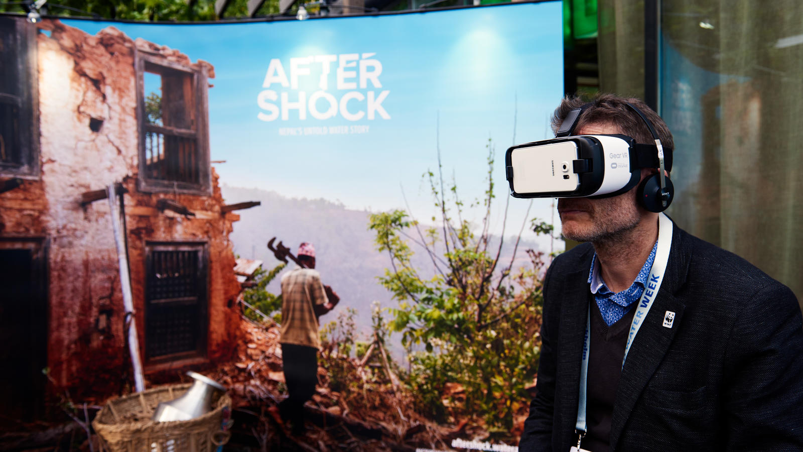 Our virtual reality film, Aftershock, launches in Stockholm during World Water Week.