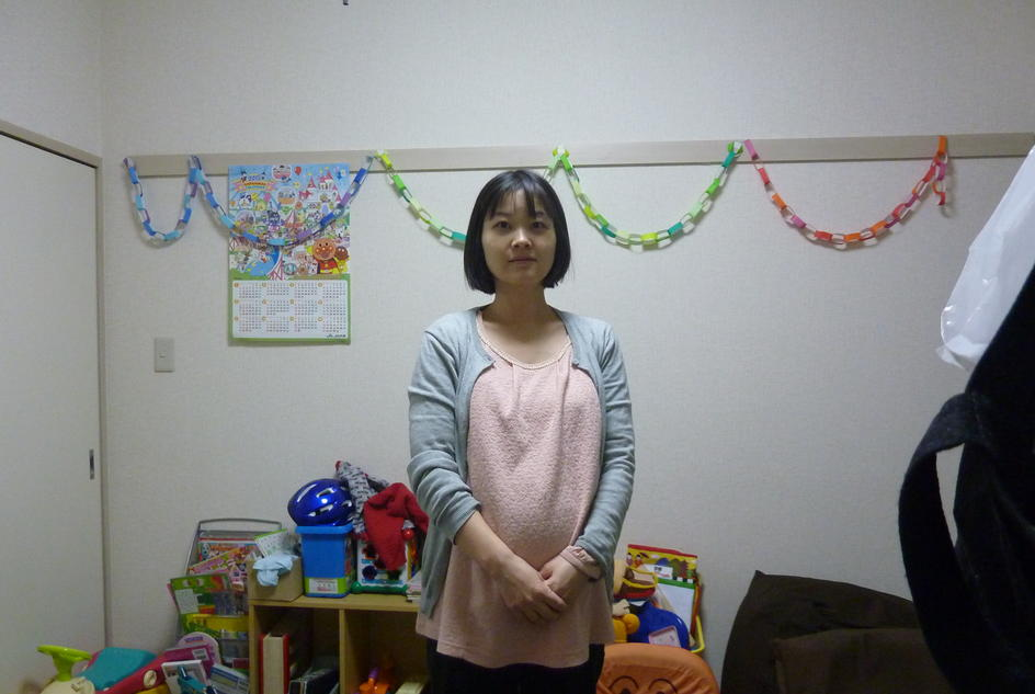 Mum-to-be Takako, photographed in Japan.