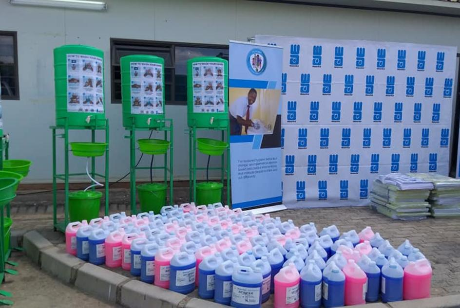 WaterAid Zambia donated handwashing tanks and soap  towards the COVID-19 response in Zambia by providing resources to the Ministry of Health.