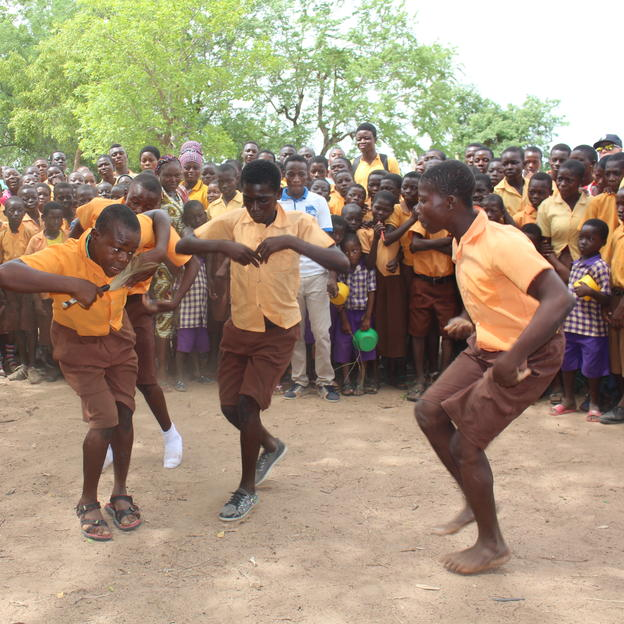 Healthy Play session at Akantome Primary school in Bolgatanga.
