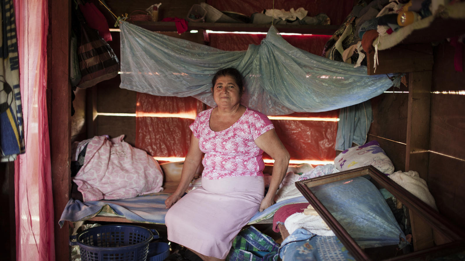 Margarita Gonzalez Castellon, 53, at her house. A midwife for 25 years claims to have delivered over 100 babies. Columbus, Butku, Nicaragua, 2015.