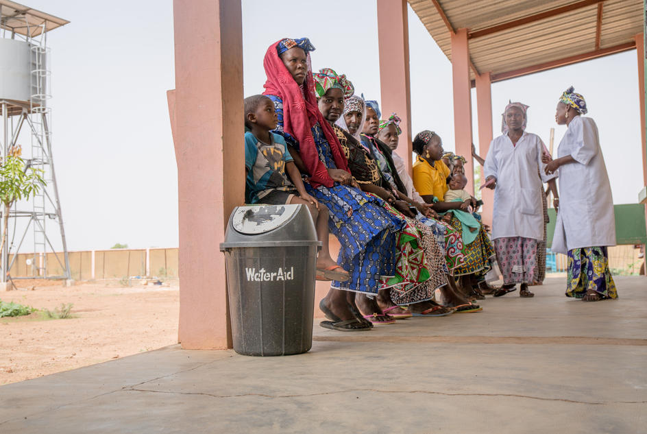 Women being seen by medical staff in Bougoura Communal Health Centre, Bougoura Village, Commune of Yangasso, Circle of Bla, Region of Segou, Mali. May 2017.