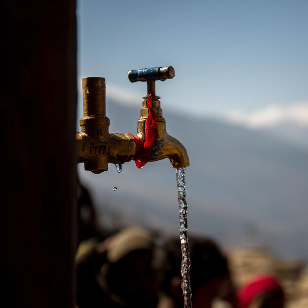 The taps running clean water mean it will transform the lives of Baragaun people, Tamti VDC, Jumla, Nepal, Mar 2017.