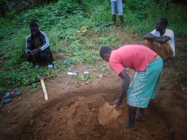 """We have started to dig the well so we can have access to clean and pure water. I am glad that we, the men of the village, have started digging the well.  Our forefathers created this village, and the water was good. They covered it with a concrete bo ..."