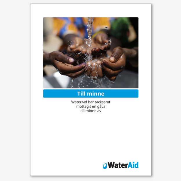 Minnesblad från WaterAid.