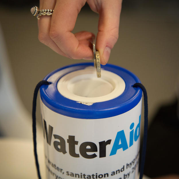 WaterAid collection tin