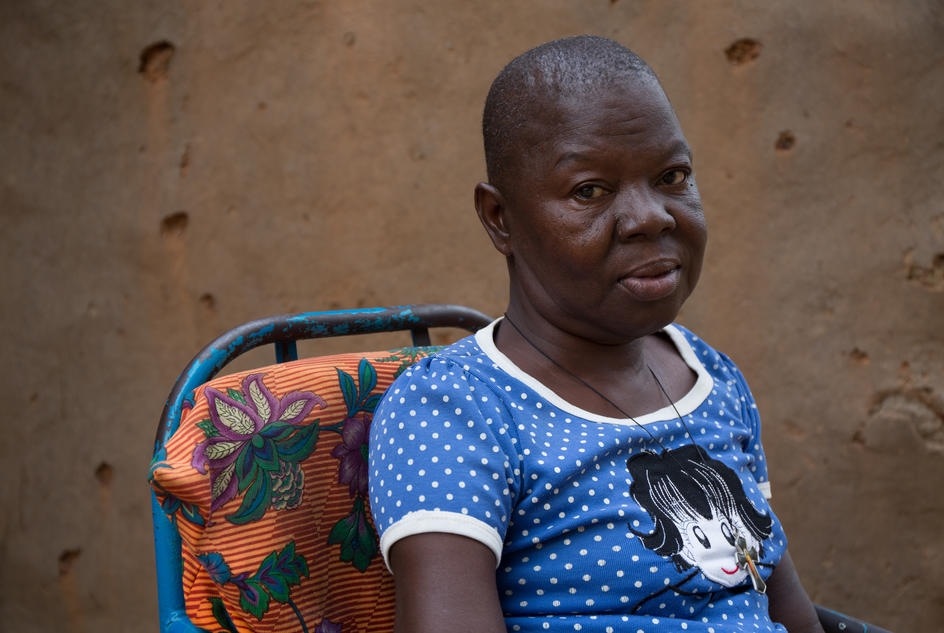 A portrait of Pelagie Hien in Burkina Faso.