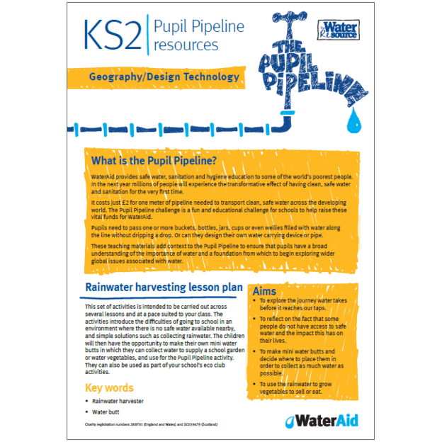 Pupil Pipeline Geography and Design Technology lesson plan