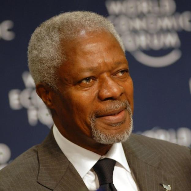 Kofi Annan at the World Economic Forum on Africa 2007, June 13-15, Cape Town.