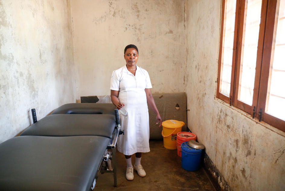 Nyaganga J Samuel, 35, nurse and midwife at Nyamalimbe Dispensary, Geita Ditrict, Tanzania, February 2017