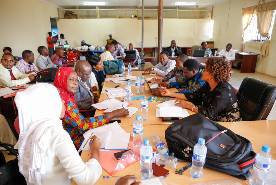 Trained district councils, trained in district wide planning, from Geita and Nyang'hwale district, Tanzania, February 2017