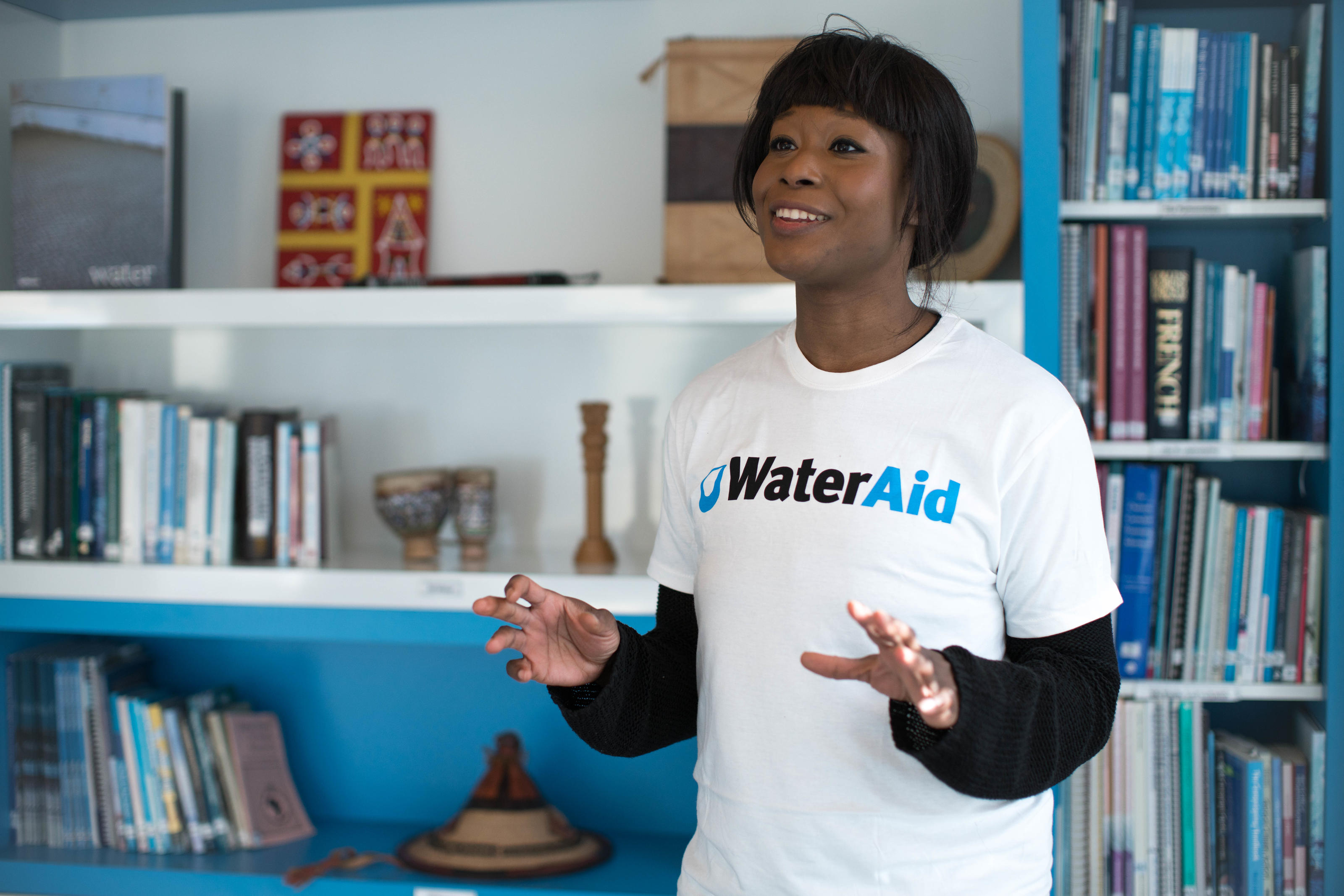 A WaterAid Speaker from the Speaker Network giving a talk