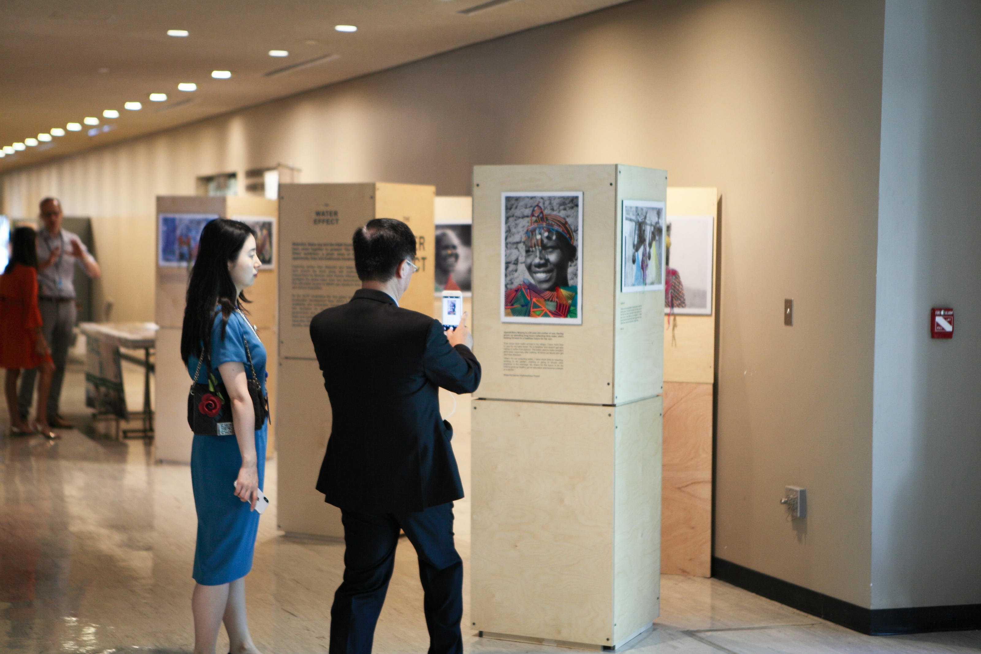The Water Effect exhibition at the HLPF, UN New York, July 2018