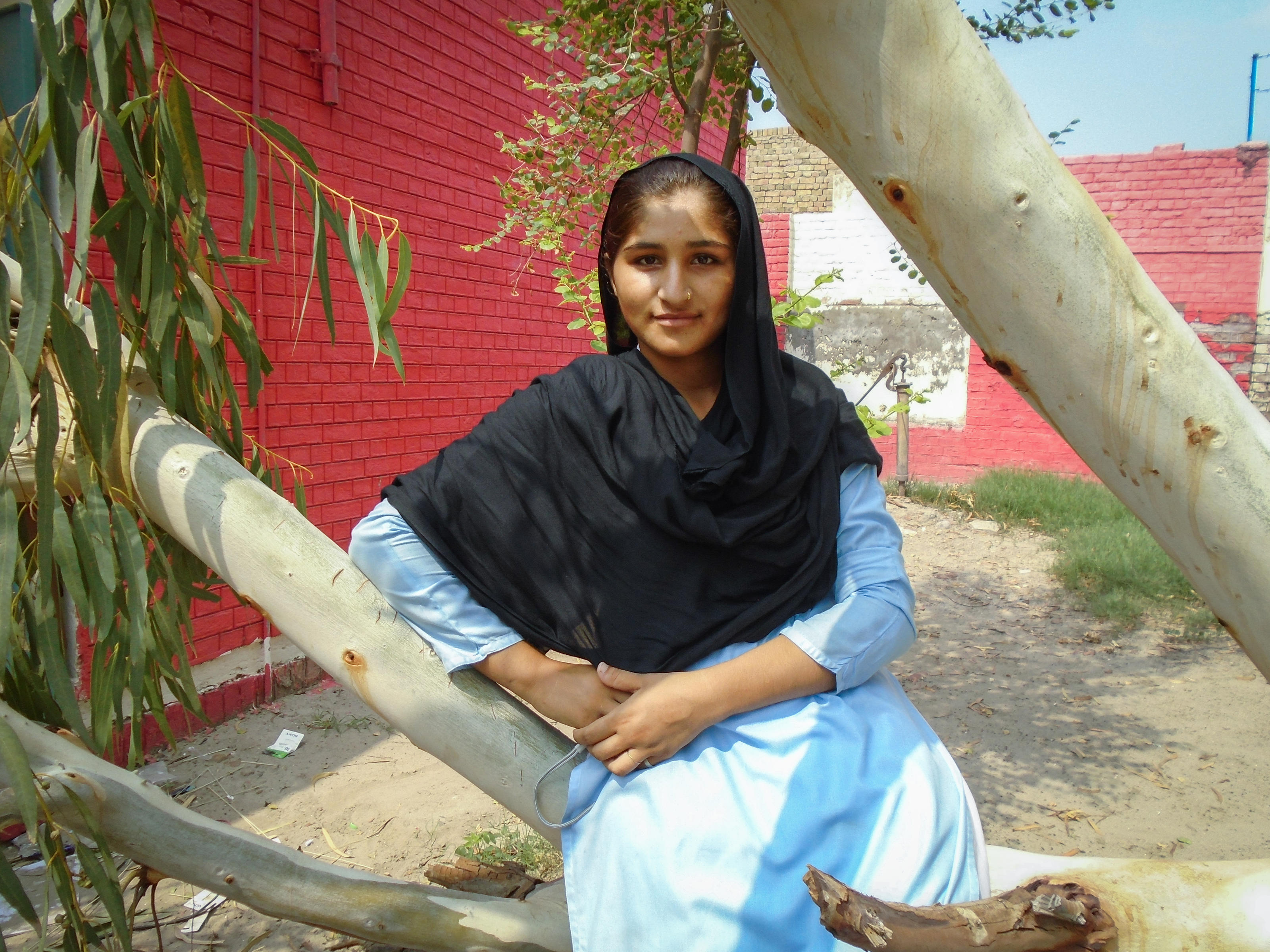 A photo of Sonia at school, taken by Rimsha in Pakistan, 2017.