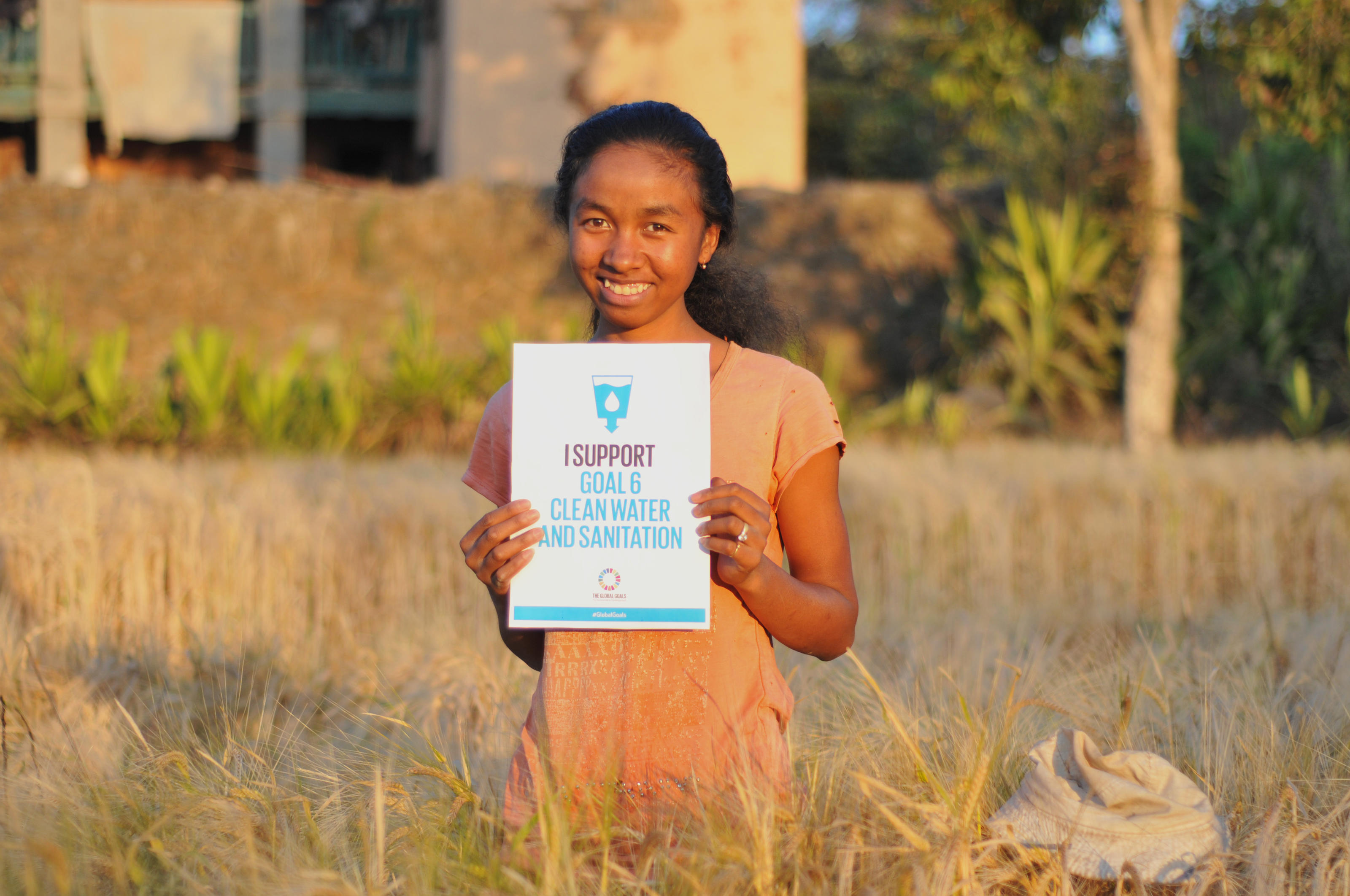 Vero supporting Global Goal six 'Clean water and sanitation.' Madagascar. September 2015.