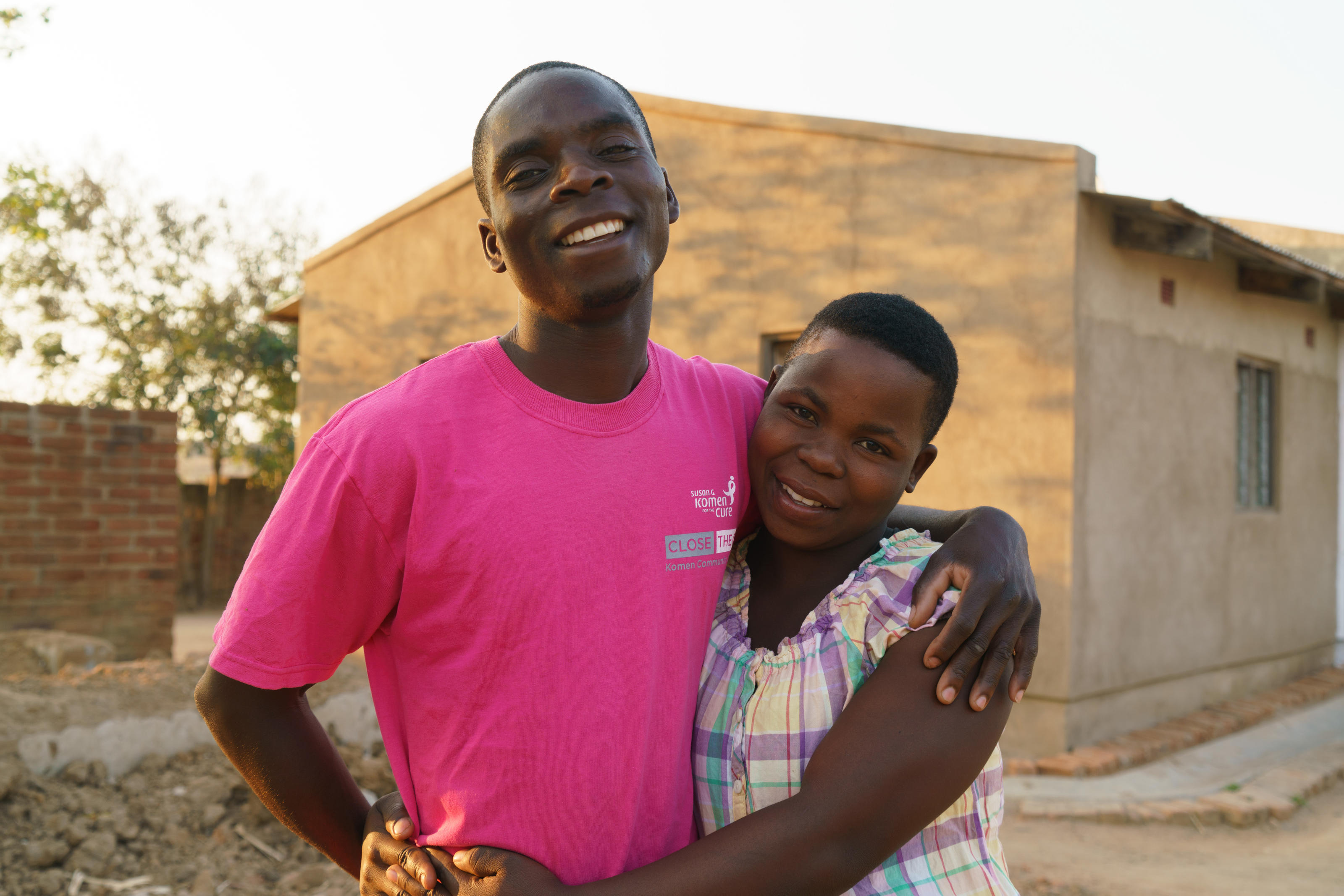 Rafiq and Chrissy, 24, happy to spend more time together, Vimphere, Malawi, September 2017