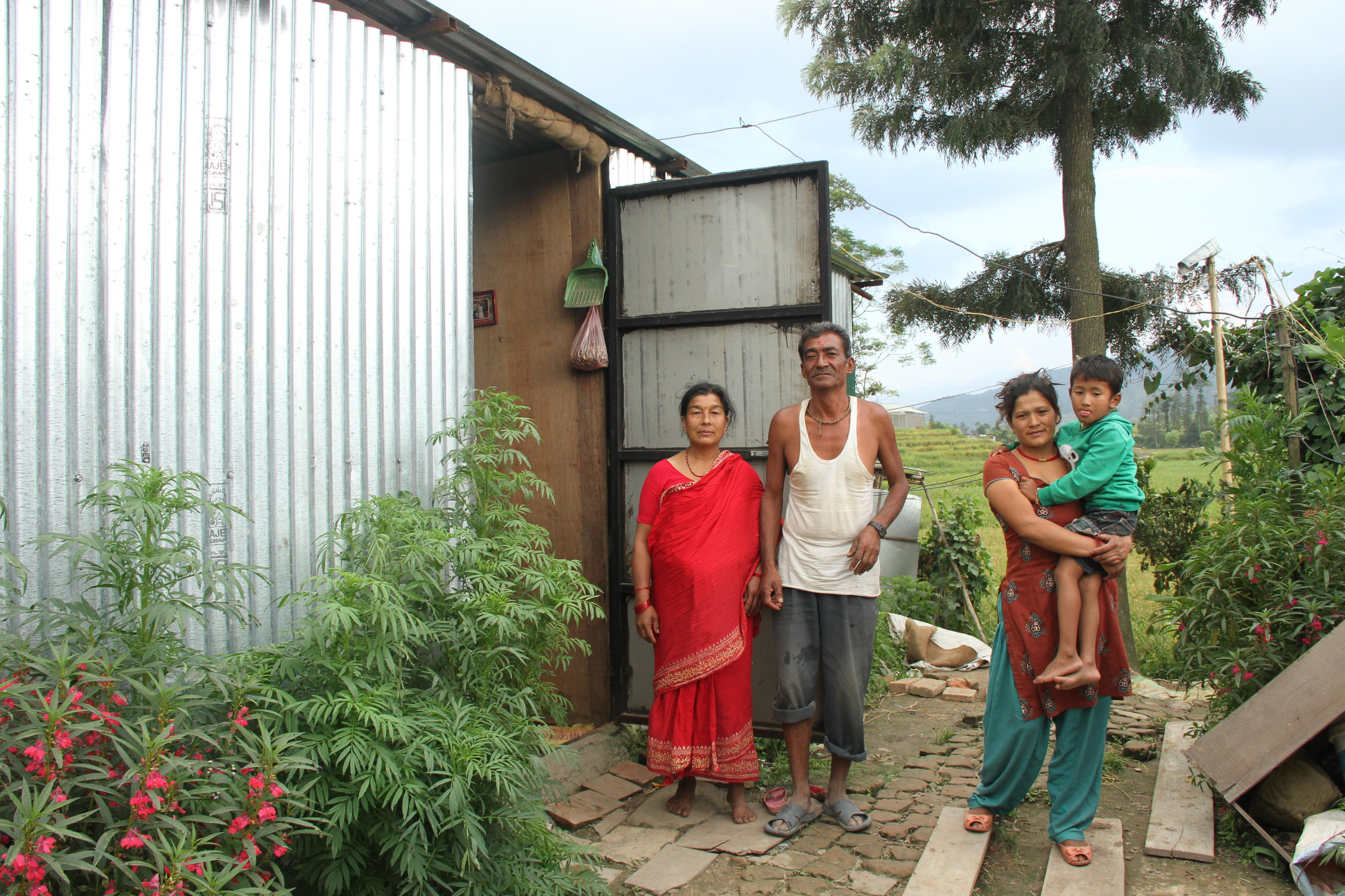 Sarmila and her family, Kavre, Nepal.