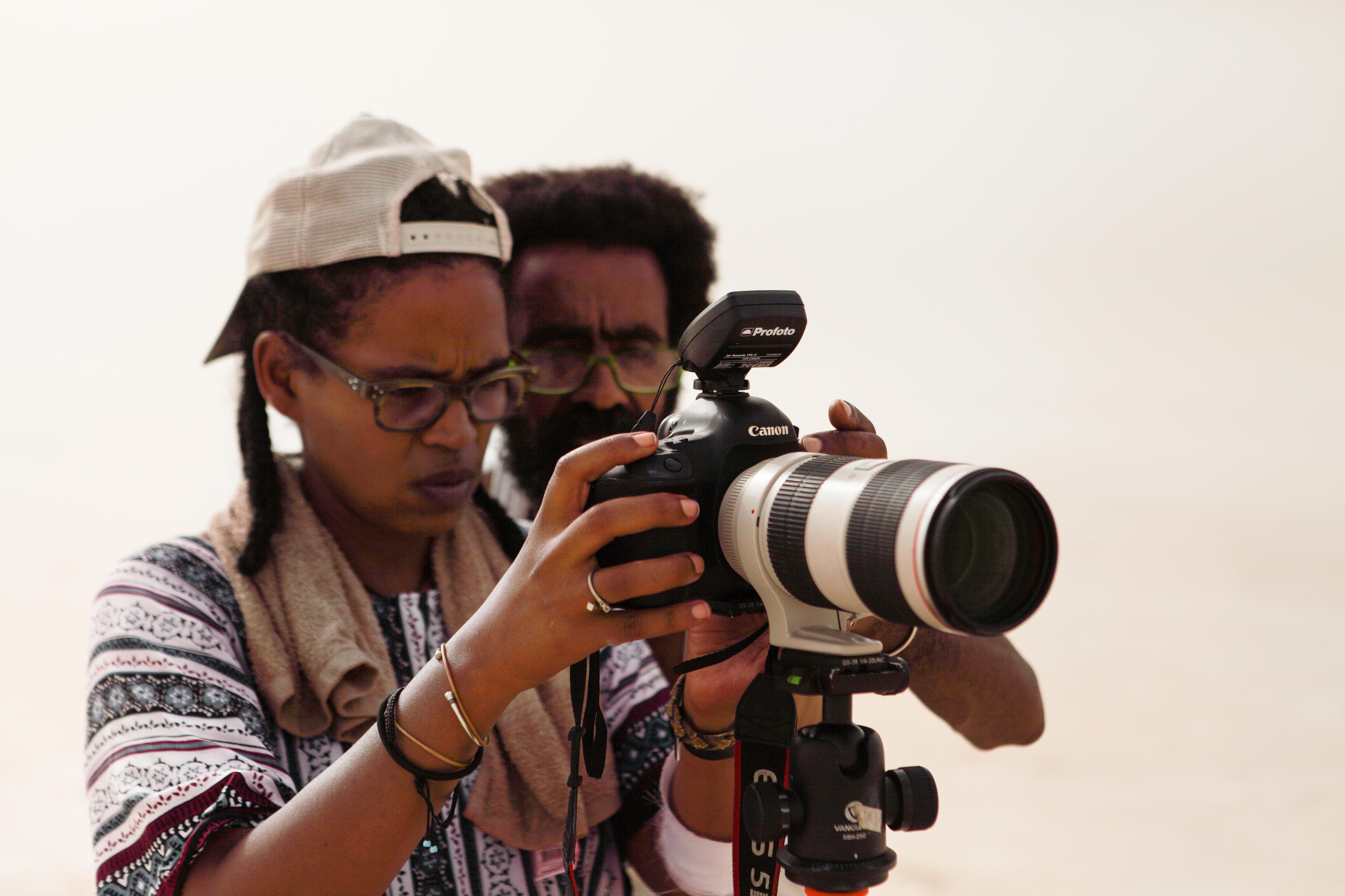 Aida Muluneh shooting her Water Life for WaterAid collection in Ethiopia