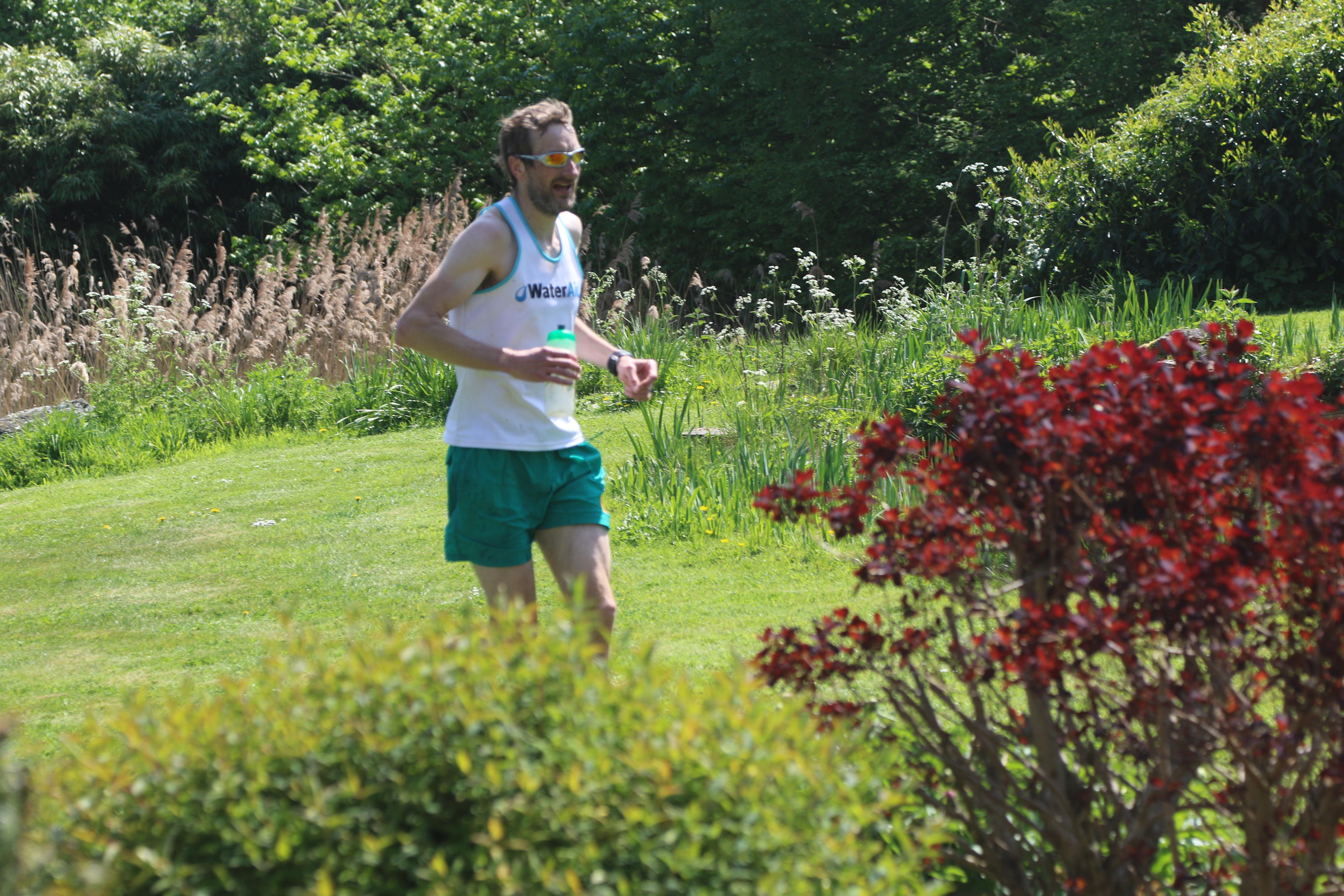 WaterAid supporter Marcus running his tap-shaped marathon for WaterAid