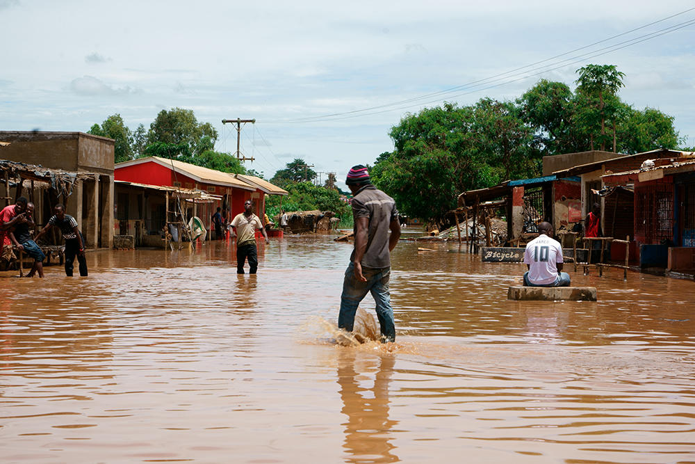 In February 2017, heavy rains brought flooding to parts of Lilongwe in Malawi, which disrupted people's access to clean drinking water due to broken water pipes. Houses and crops were damaged and people lost personal belongings. Malawi is one of the countries globally least prepared to adapt to the effects of climate change.
