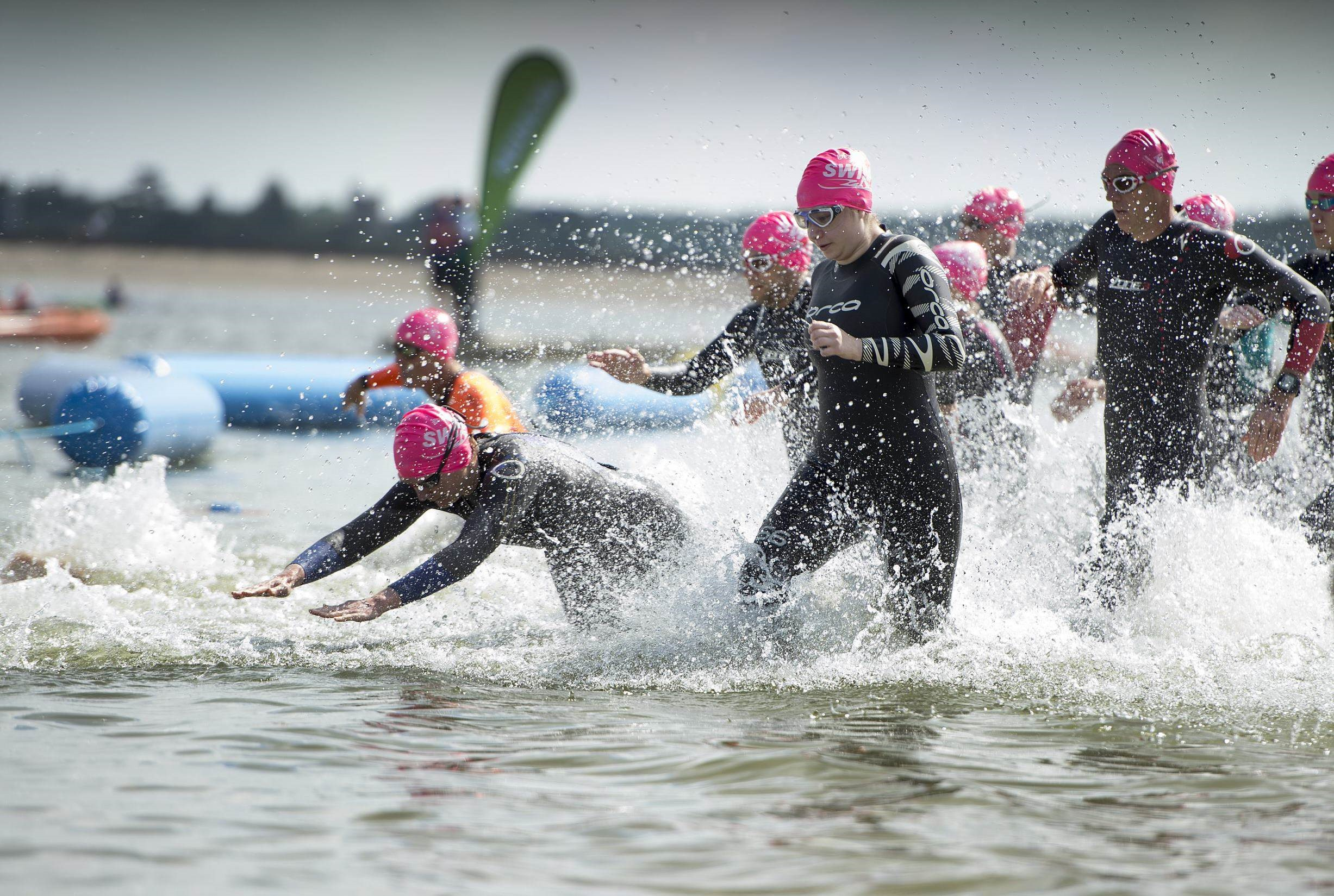 Outdoor swimmers taking part in the Great East Swim
