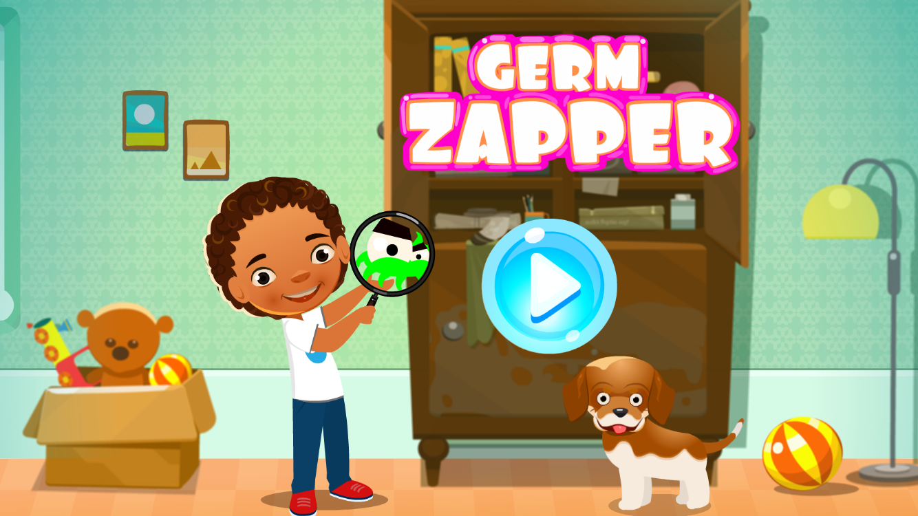 Screenshot of our free online game for children called Germ Zapper