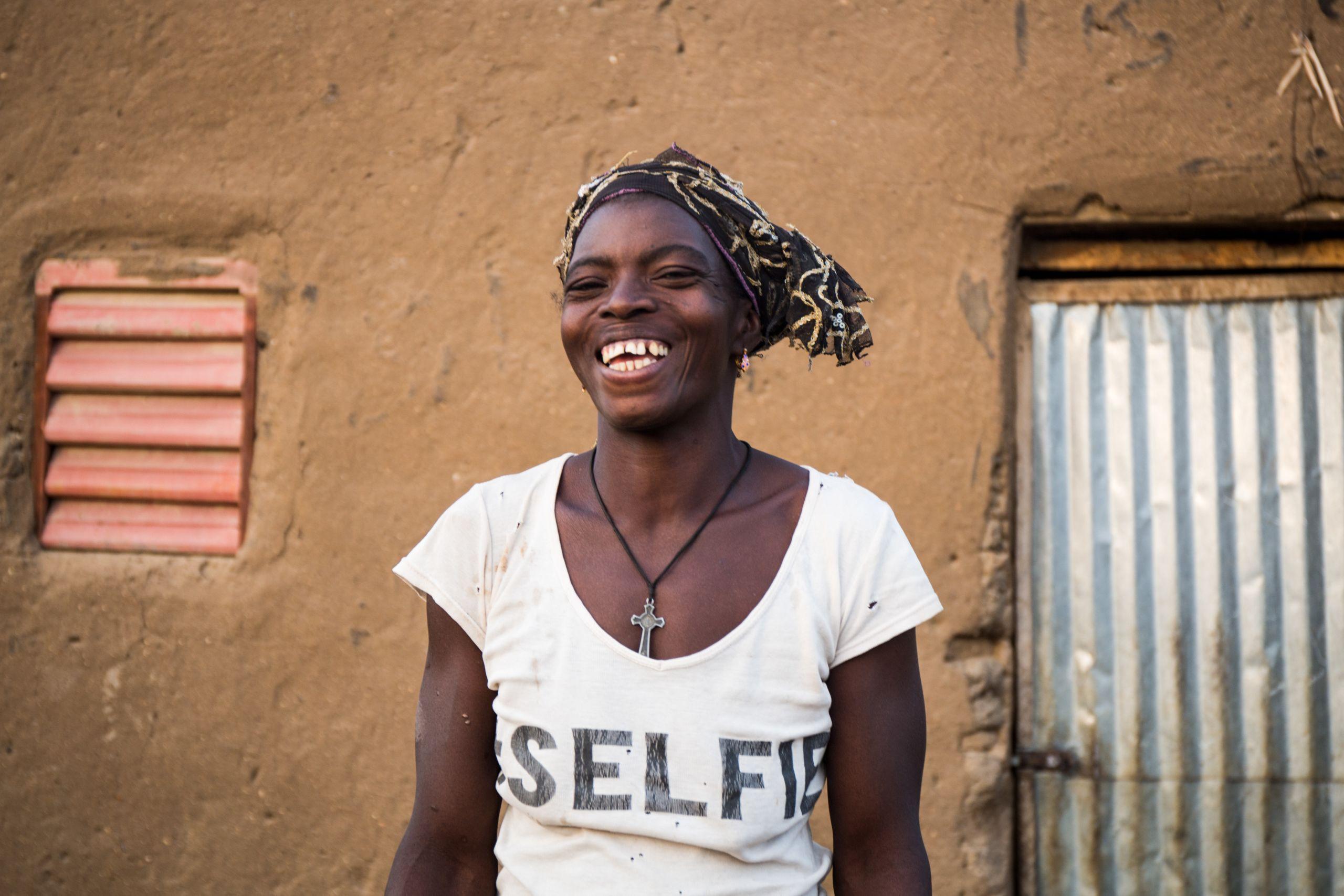 A portrait of Eveline in the village of Sablogo, Burkina Faso, January 2018.