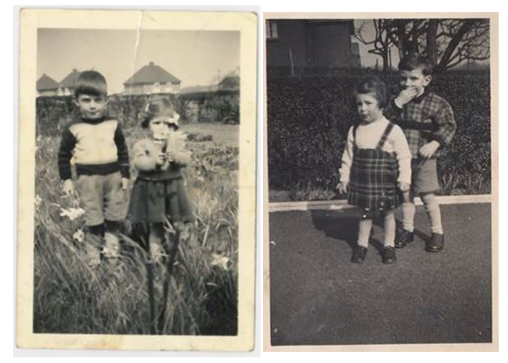 Siblings John and Jean as children in the 1960s