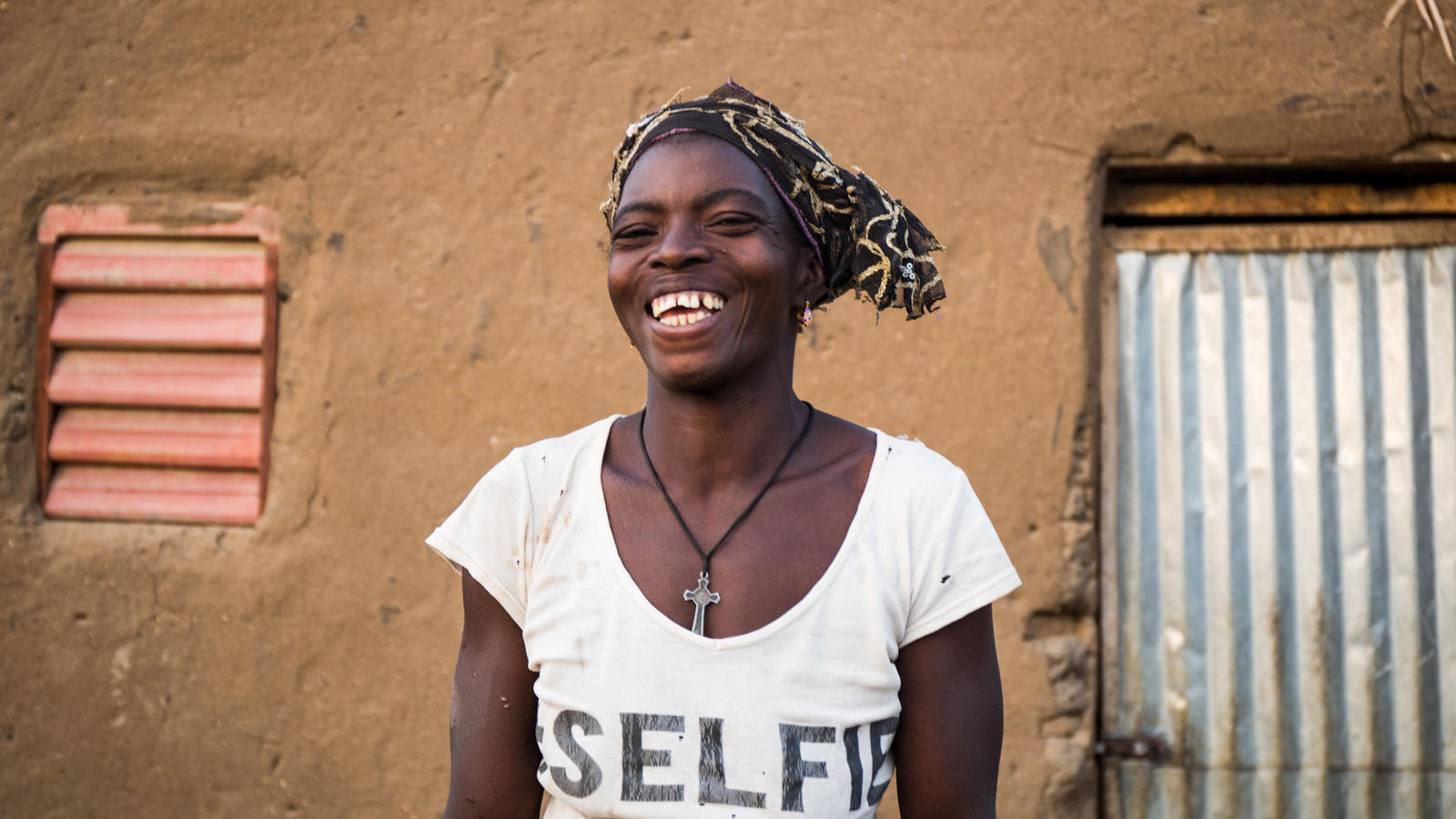 A portrait of Eveline, in the village of Sablogo, Burkina Faso, January 2018.