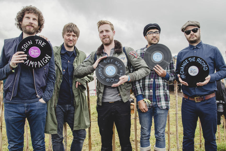 The Kaiser Chiefs, supporting out Change the Record Campaign